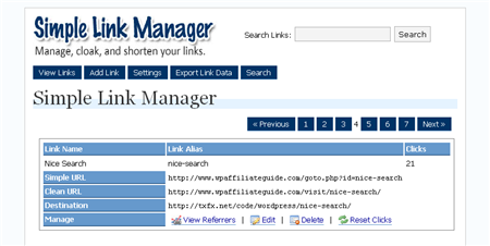 SLM Admin Screen