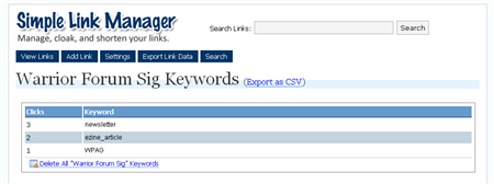 SLM Keywords